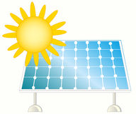 Sun and solar panel Royalty Free Stock Photography