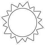 Sun solar system astronomy outline Royalty Free Stock Photos