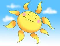 Sun am Sommer stock abbildung
