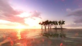 Sun-Sonnenuntergang in Meer raster 2 Stockfotos