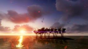 Sun-Sonnenuntergang in Meer raster 4 Lizenzfreie Stockfotografie