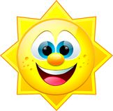 Sun sonriente imágenes de archivo libres de regalías