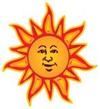 Sun sonriente Imagen de archivo libre de regalías