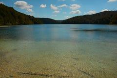 Sun sopra il lago Chiemsee in Baviera Fotografie Stock Libere da Diritti