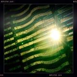 Sun sopra la finestra Fotografia Stock
