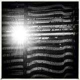 Sun sopra la finestra Fotografie Stock Libere da Diritti