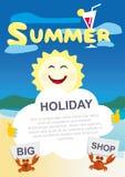 Sun sostiene una hoja de papel en blanco Imagen de archivo libre de regalías