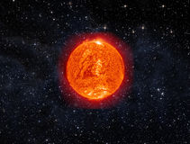 Sun in space Royalty Free Stock Photo