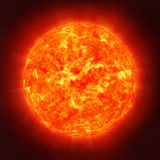 Sun in space royalty free stock photos