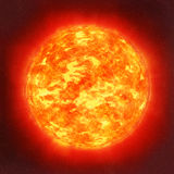 Sun in space. Illustration of Sun in the space Stock Images