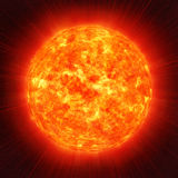 Sun in space. Sun planet in the space Stock Image