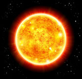 Sun in a space. Vector sun in a space background Stock Image