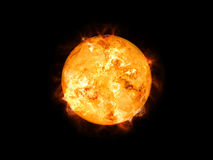 Sun in space. An image of a cool sun in space Royalty Free Stock Image