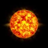 Sun in space. Art dark hot Stock Images