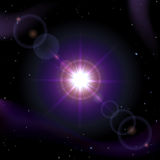 Sun in space Royalty Free Stock Photography
