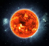 Sun in space Stock Images