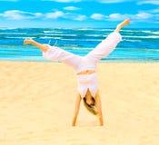 Sun, spiaggia, esercitazione Immagini Stock