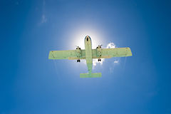 Sun Spotlight Airplane Stock Photos