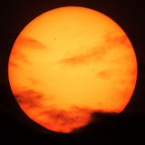 Sun spots and clouds Royalty Free Stock Image