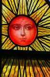 Sun - Stained Glass Royalty Free Stock Photo