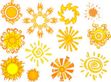 Sun and star abstract shapes. Vector illustration Royalty Free Stock Photography