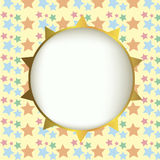 Sun on star background Royalty Free Stock Images