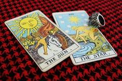 The SUN & The STAR gypsy tarot Stock Photo