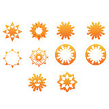 Sun and Star Icons. Sun icons, laughing sun, star like and other symbols Stock Photography