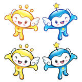 The Sun and Star mascot has been welcomed with both hands. Natur Stock Photography