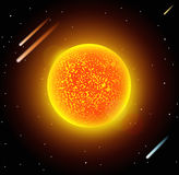 Sun star planet 3d vector illustration Stock Images