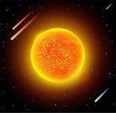 Sun star planet 3d vector illustration Stock Images