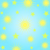 Sun and stars Royalty Free Stock Image