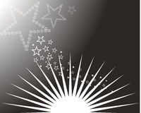 Sun and stars. Vector illustration of sun and stars Royalty Free Stock Photo