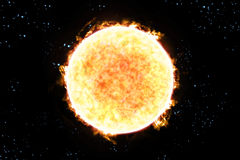Sun Starscape 3D Illustration Royalty Free Stock Images