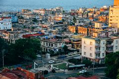 The city of Havana, Cuba. royalty free stock images
