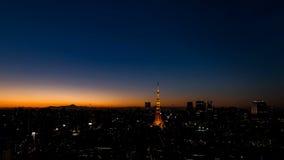 Sun stellte über die Stadt von Tokyo ein stock video footage