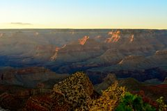 Sun stellte in Grand Canyon ein Lizenzfreies Stockfoto