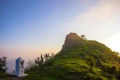 Sun stellte an phu Chi dao Klippe Chiang Rai Thailand ein Lizenzfreies Stockbild