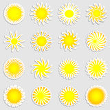 Sun stickers Royalty Free Stock Image