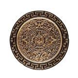 Sun stone. Or aztec calendar on white background Stock Photos