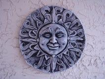 Sun stone face Stock Photography