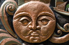 Face. Of stone like the sun royalty free stock images