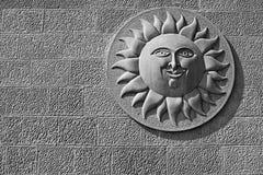 Sun stone relief Royalty Free Stock Photos