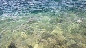 Sun-Strahl in den Fjorden stock footage