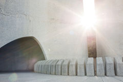 Sun-Strahlen lizenzfreie stockfotos