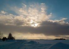 Sun-Strahlen Lizenzfreies Stockfoto