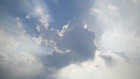 Sun-Strahlen des Lichtes stock video