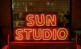 Sun Studio, Memphis Tennessee. The World Famous Sun Studio in Memphis Tennessee. Sun Studio is a recording studio opened by rock pioneer Sam Phillips at 706 Royalty Free Stock Photos