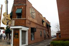 Sun Studio. The outside of the legendary rock n roll recording studio in Memphis, Tennessee royalty free stock image