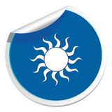 Sun stylized image icon Stock Photos